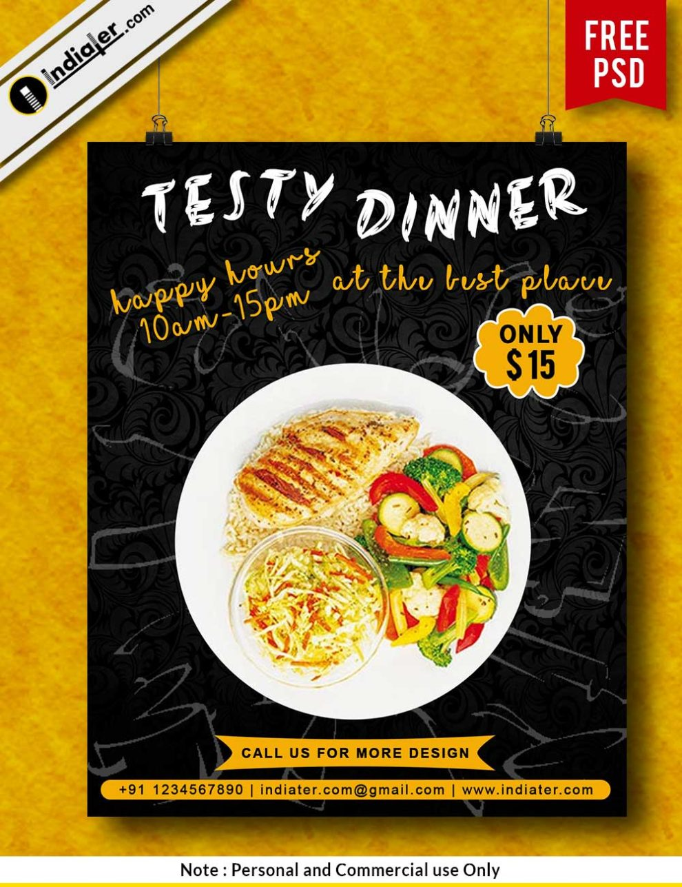 free tasty dinner restaurant advertising flyers template indiater