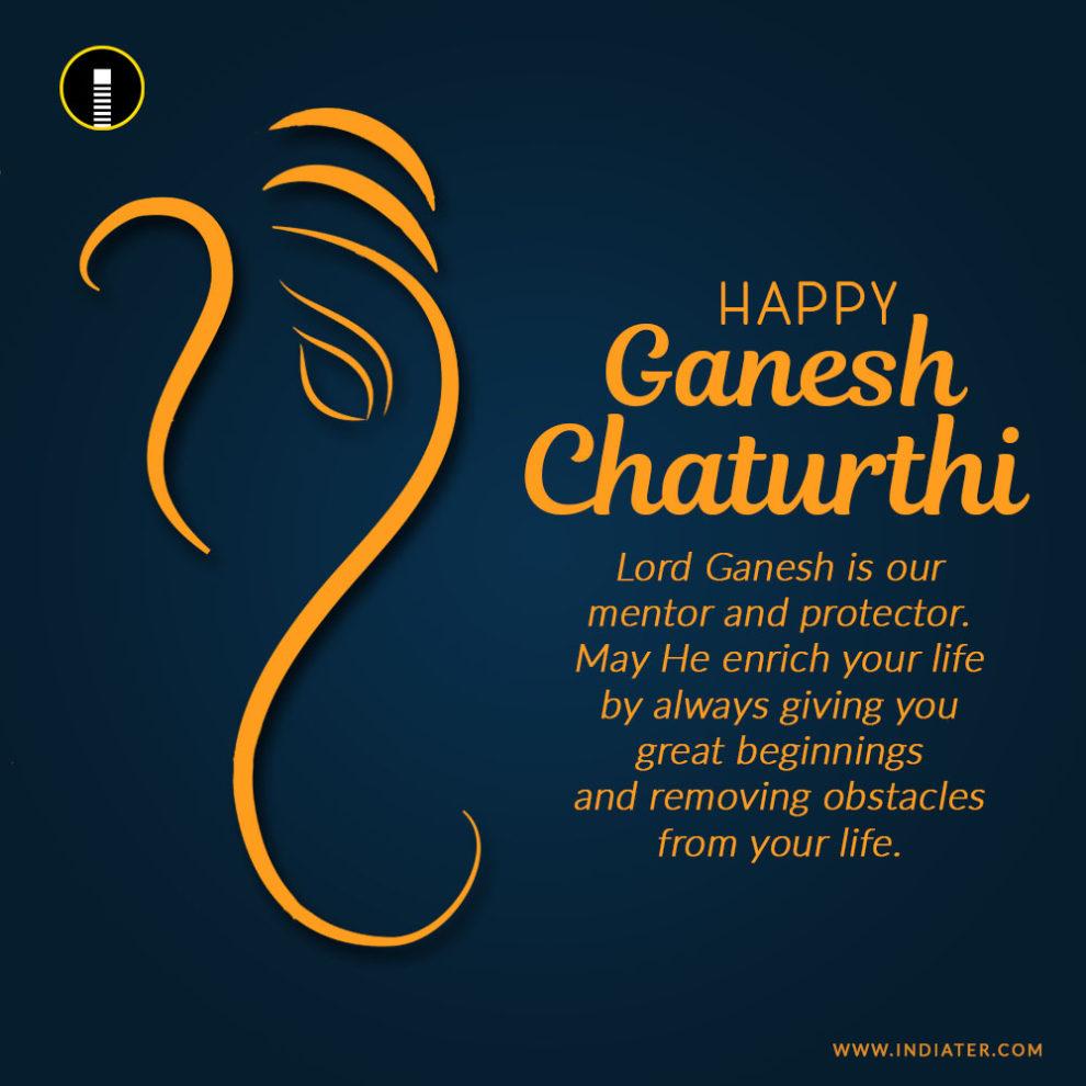 Motivational Happyganeshchaturthiimagephotowithnicequotes Luvze Happy Ganesh Chaturthi Image Photo With Nice Quotes Wishes Indiater