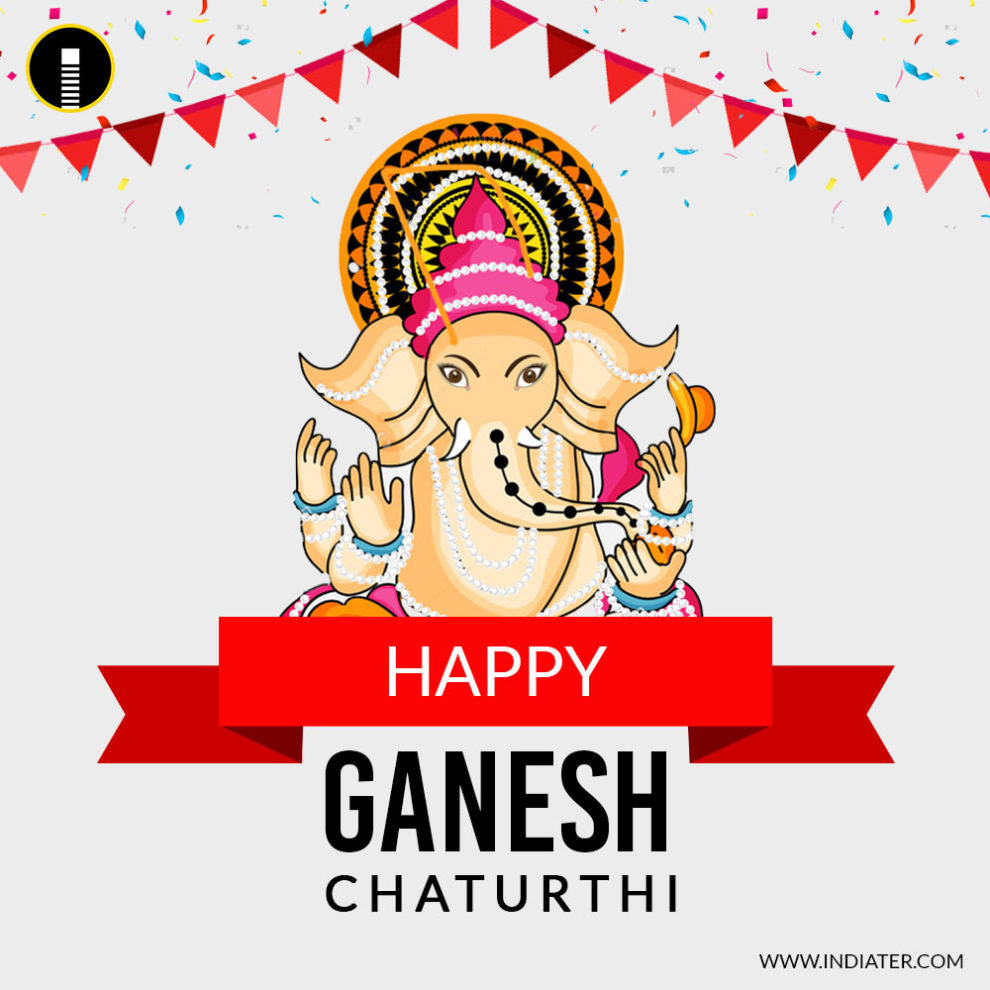 Happy Ganesh Chaturthi Social Media Banner with nice quotes ...