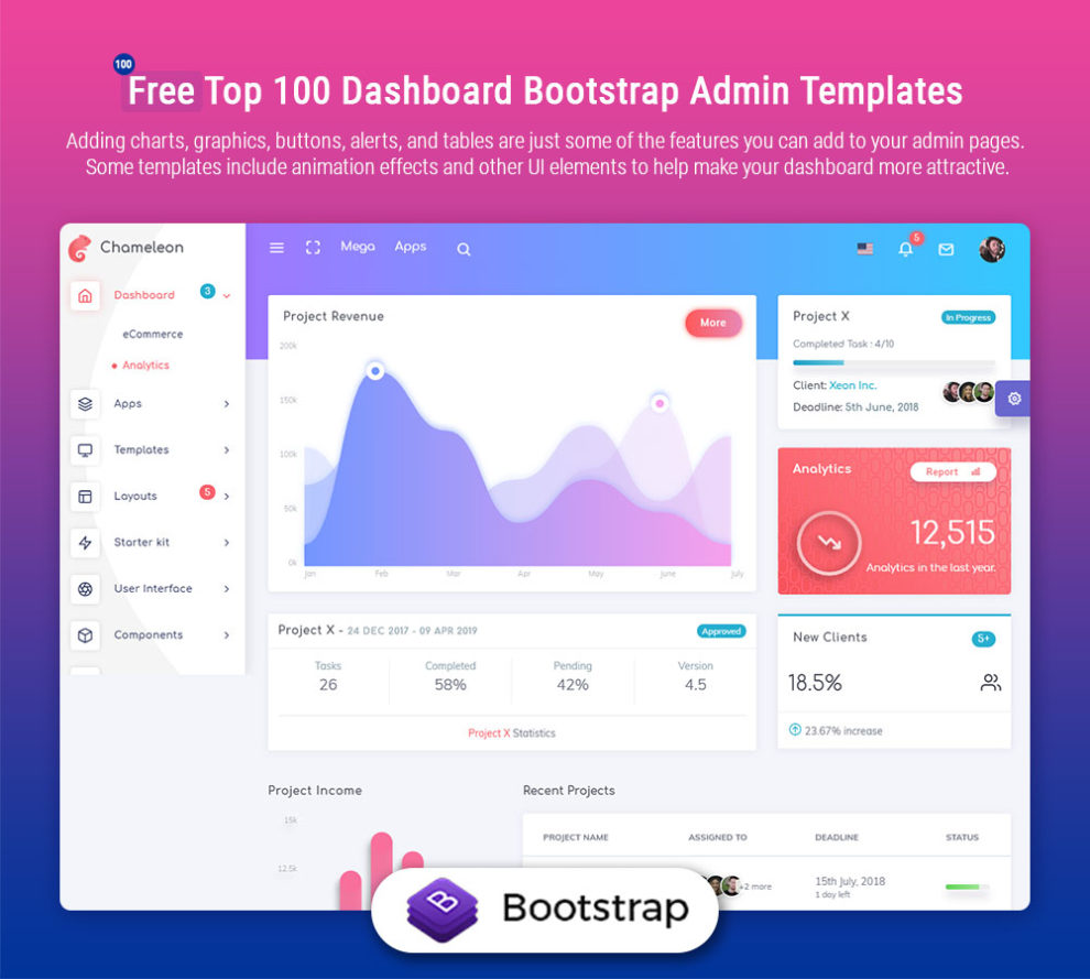 Free Top 20 Dashboard Bootstrap Admin Templates   Indiater