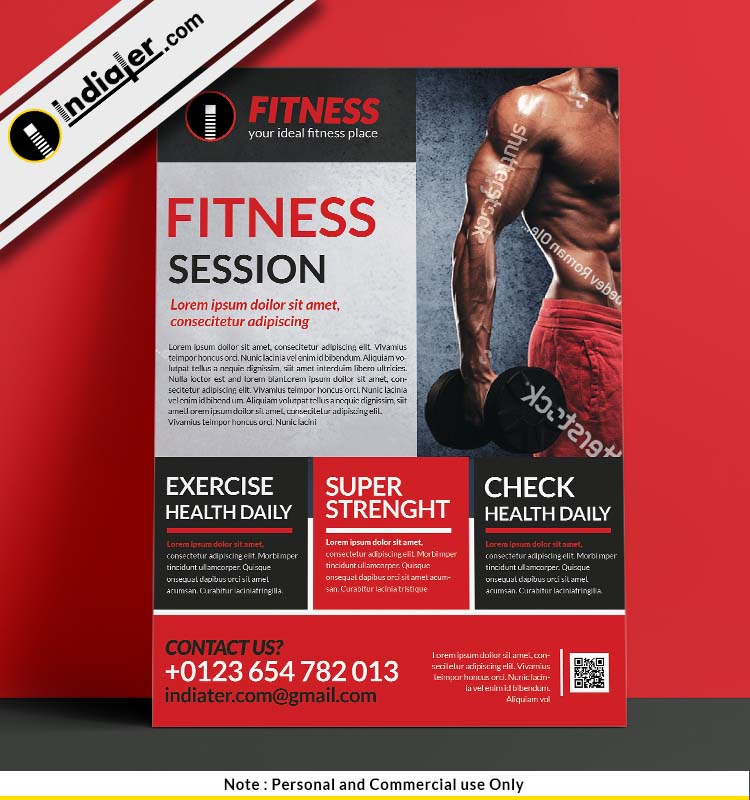 free-get-into-shape-fitness-flyer-psd-template