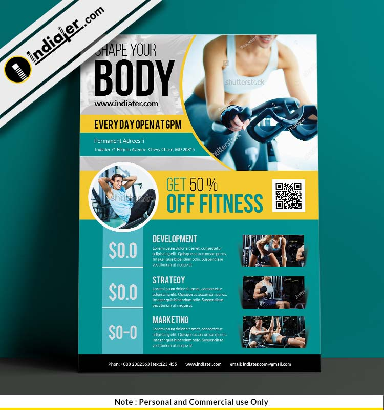 free-gym-sports-training-psd-flyer-template