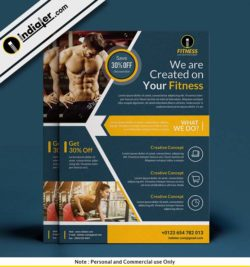 free-weight-training-fitness-flyer-psd-template