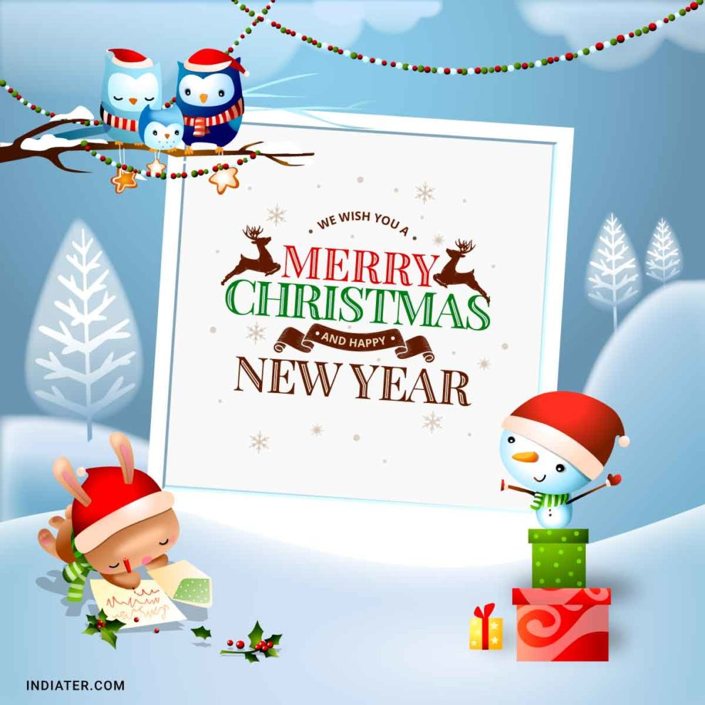 free merry christmas and new year wishes images