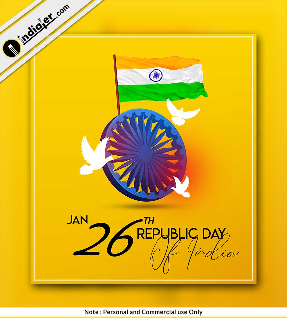 26 January Republic Day Modern Social Media Post Indiater