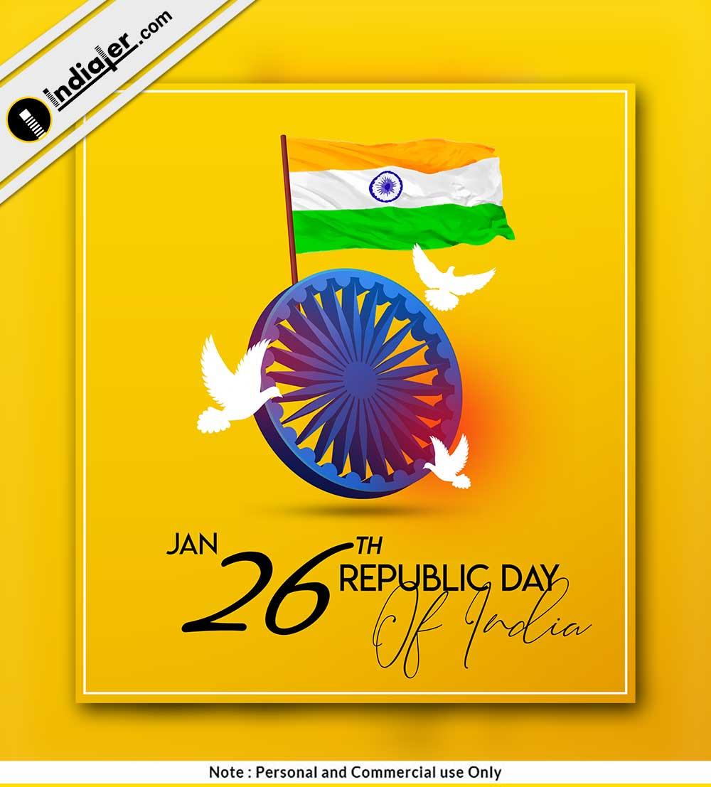 26 January Republic Day Modern Social Media Post Indiater