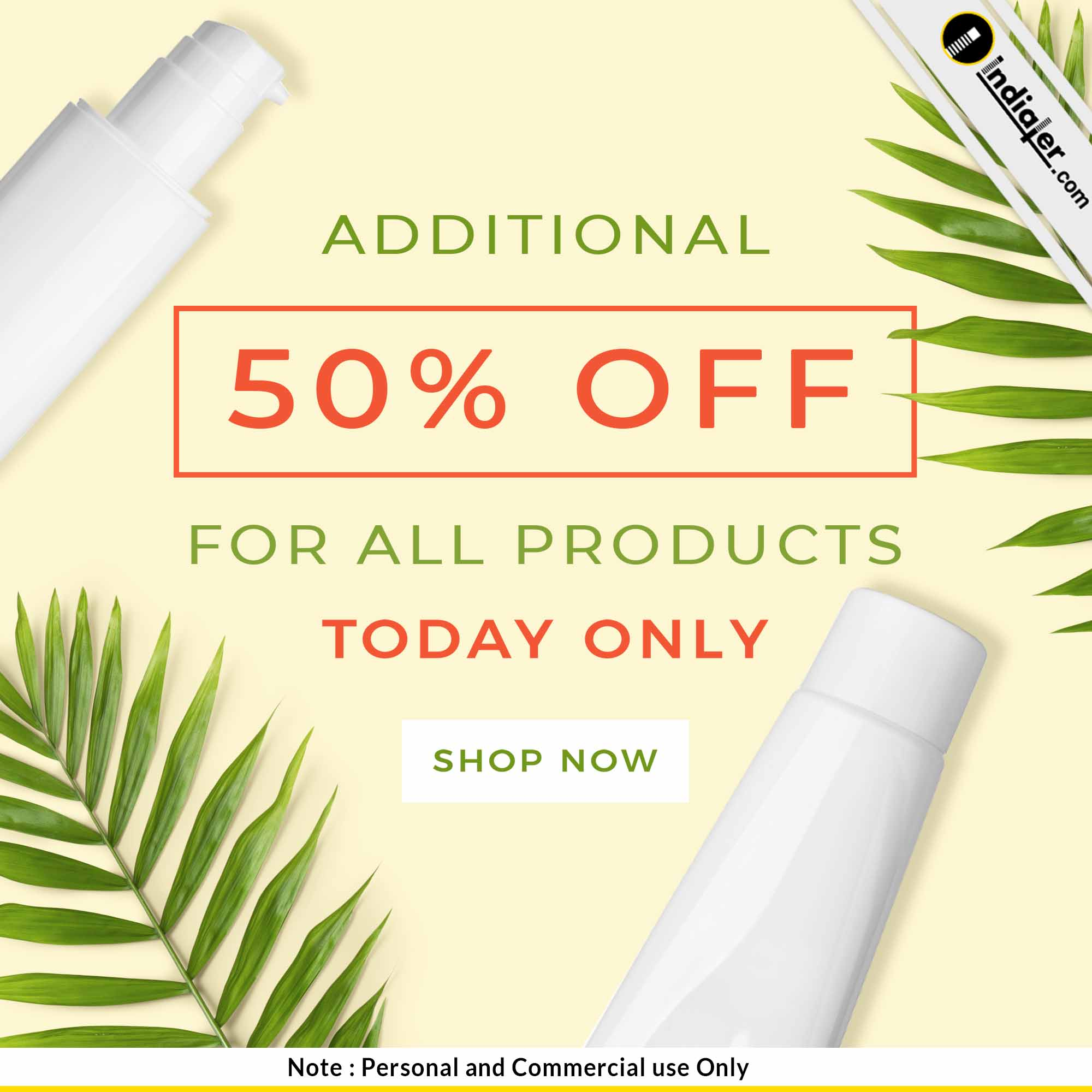 additional product sale discount offer ads banner design