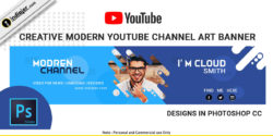 free-creative-modern-youtube-channel-art-banner-psd