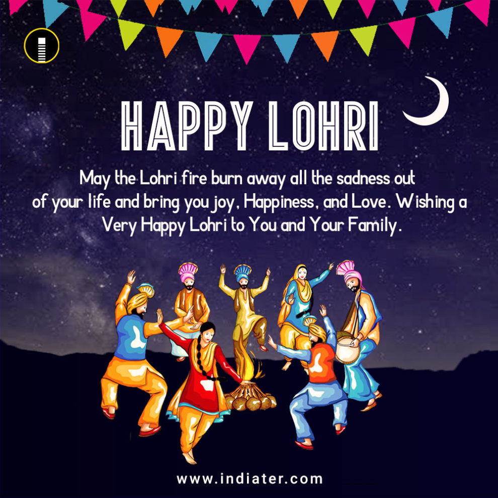 Lohri Festival Wishes Greeting Card Free Download Psd Indiater