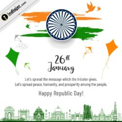 Republic day - 26 January background with beautiful designs