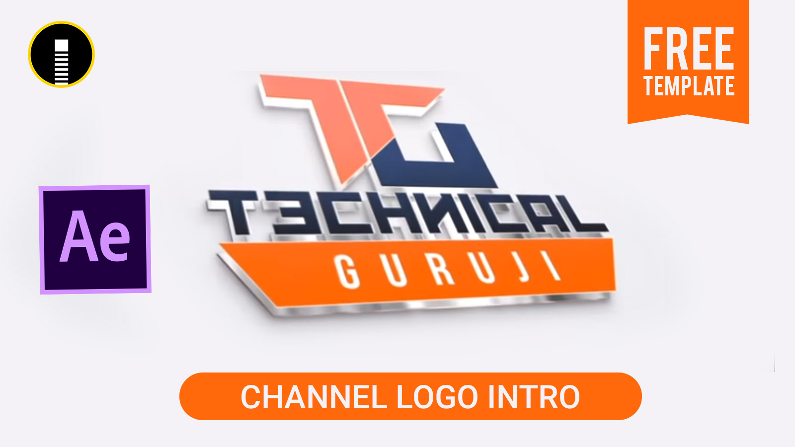 youtube channel logo intro like technical guruji free