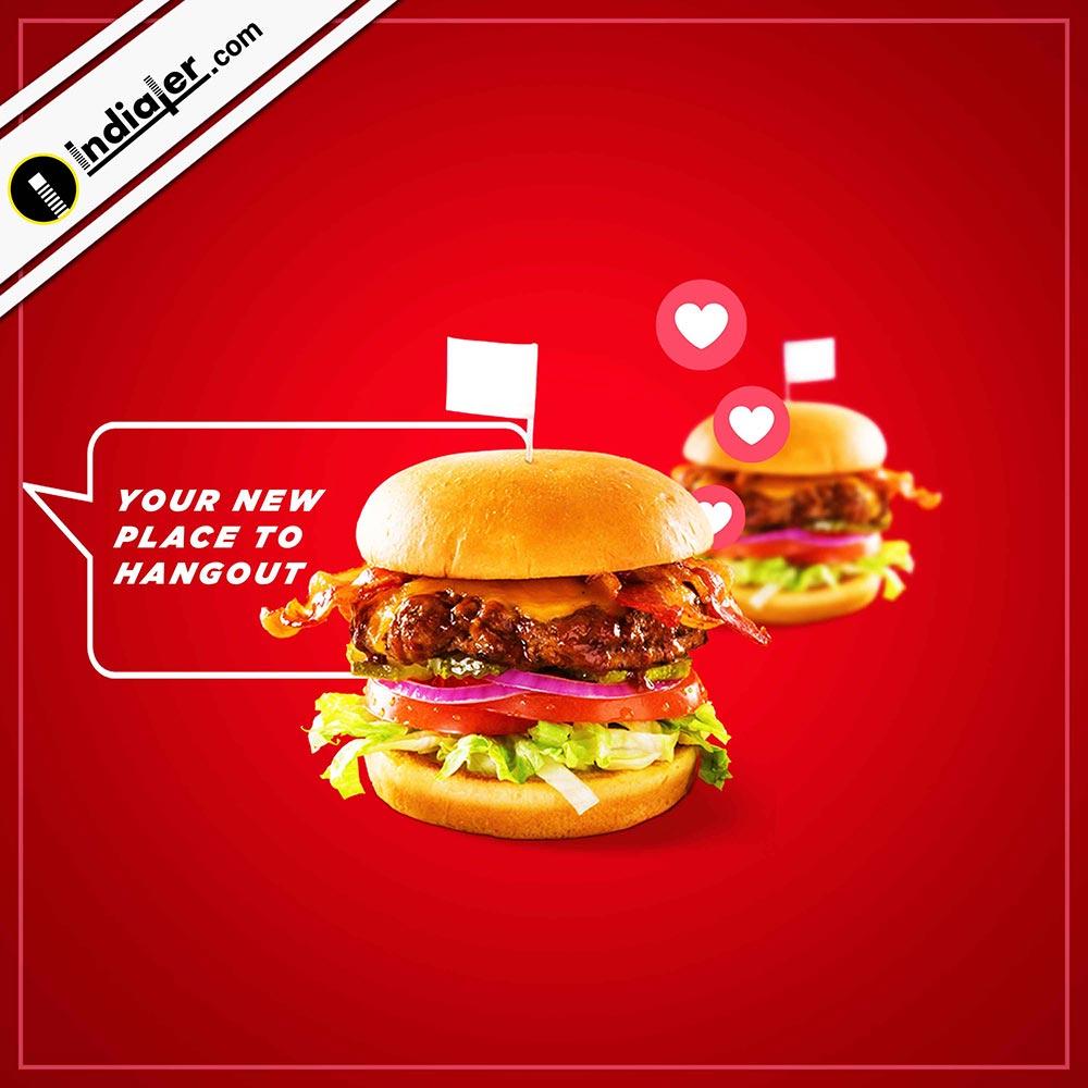 Creative Burger social Meida Free PSD Template