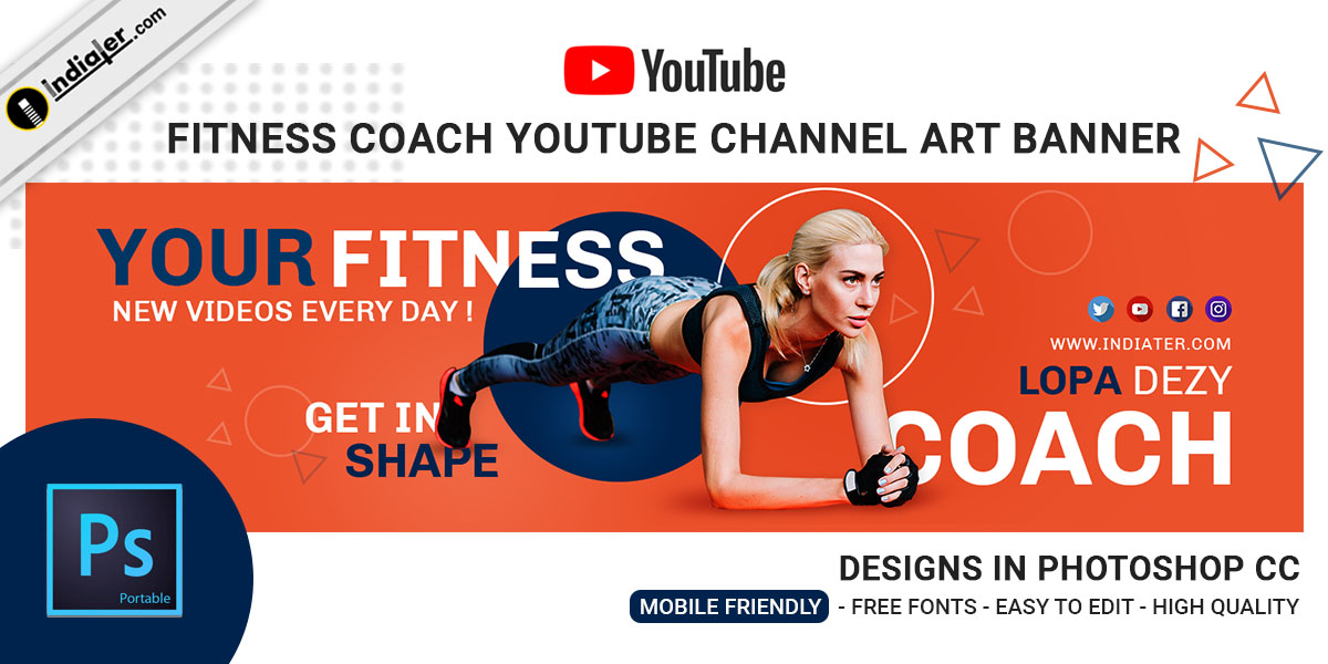 fitness-coach-youtube-channel-art-banner-template