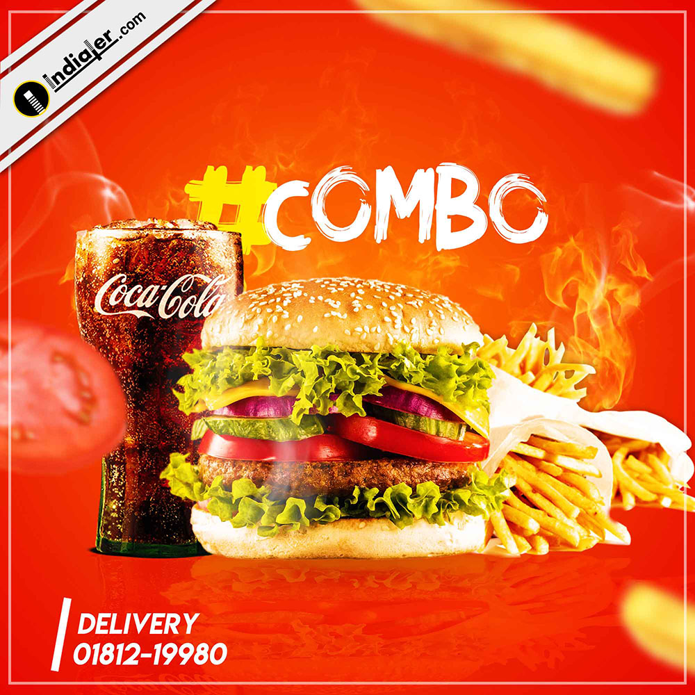 Free Creative Fast Food Ads Banner PSD Template