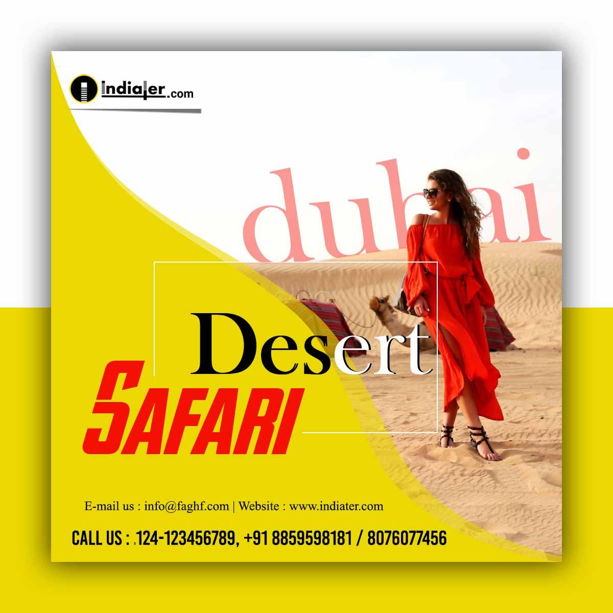 free-dubai-travel-weekend-flyer-template