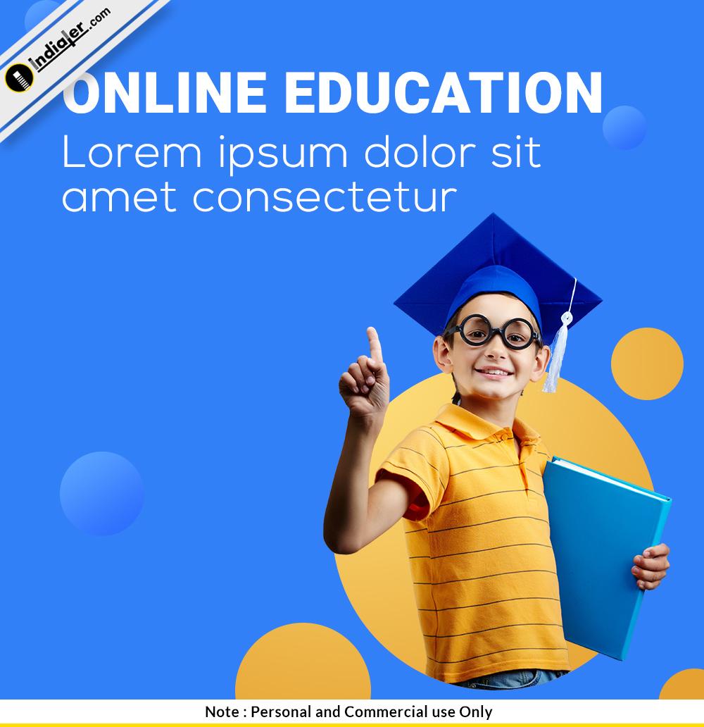 free-online-education-social-media-psd-design-template