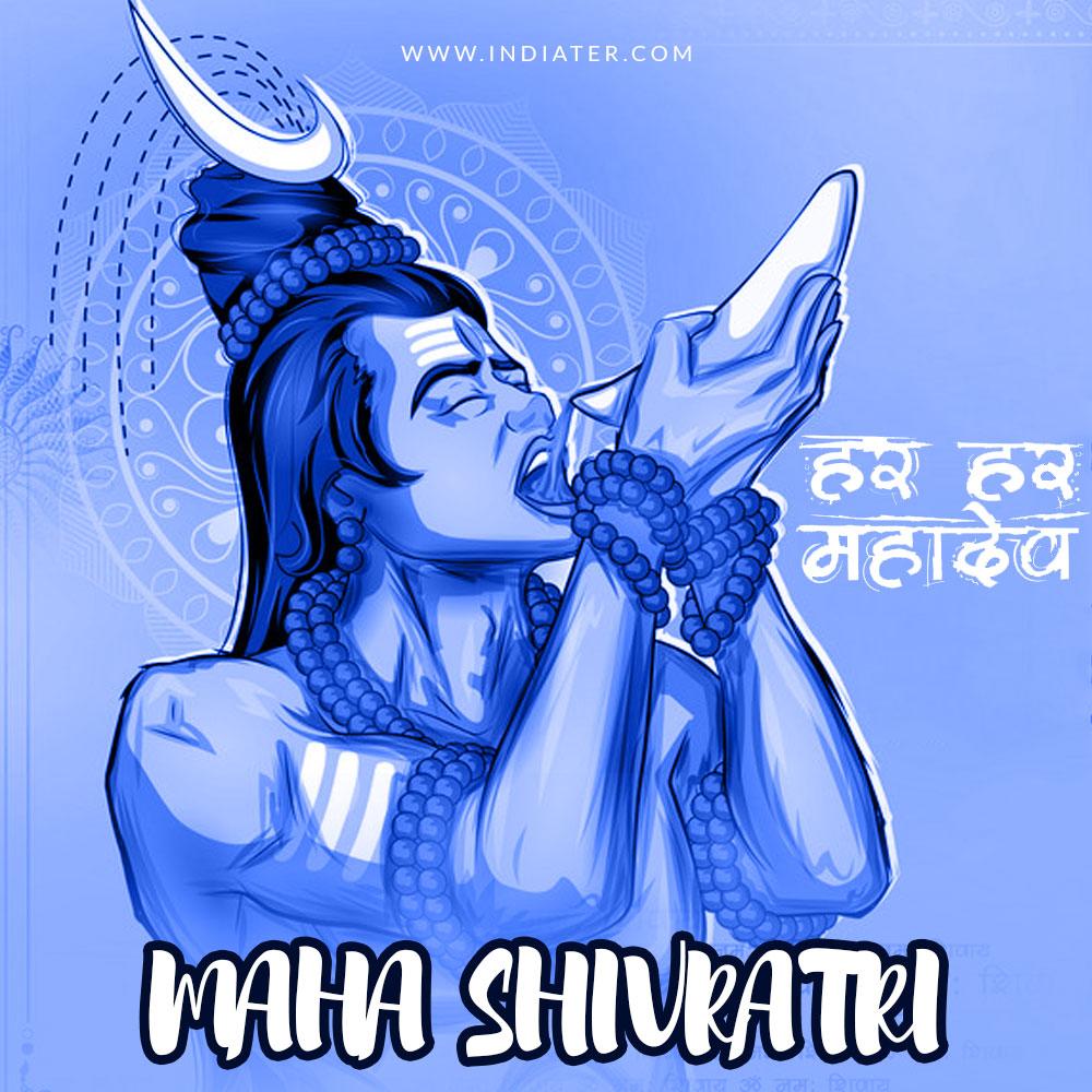 Happy Mahashivratri Social Media Design