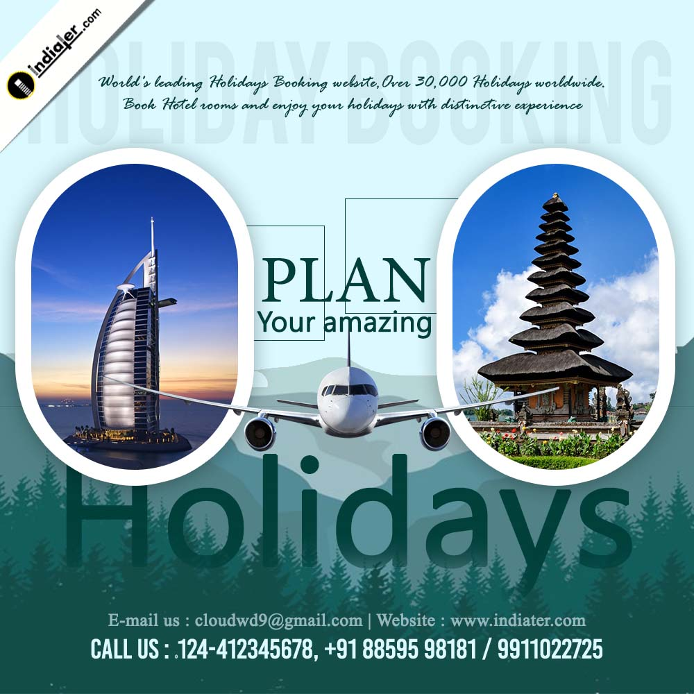 Amazing Holiday Promotion Travel Banner Design