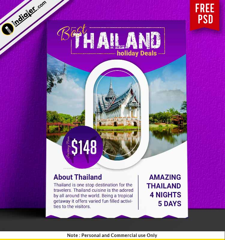 Amazing Thailand Tour Packages Promotion Travel Flyer