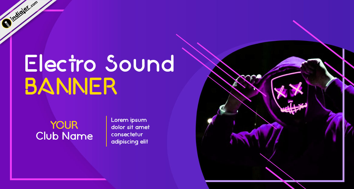 Blue Gradients Flat Electro Sound Banner Template