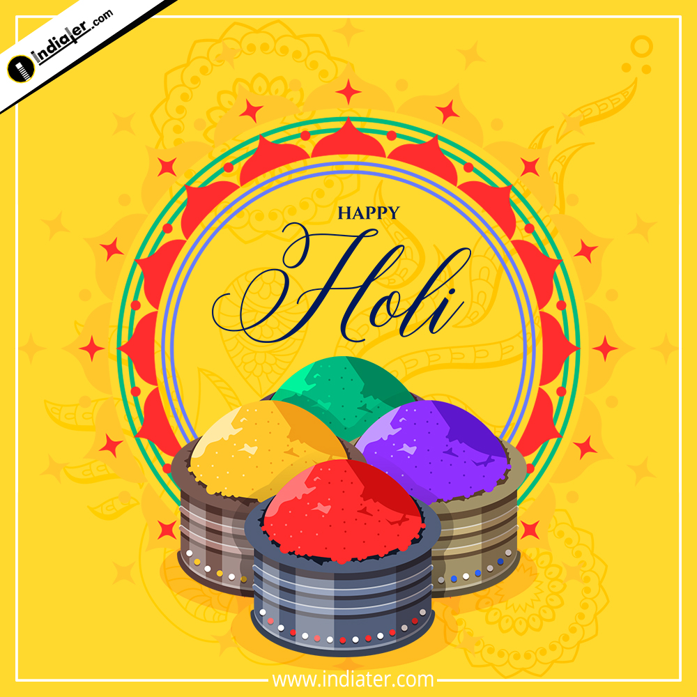colorful happy Holi Whatsapp Status Image