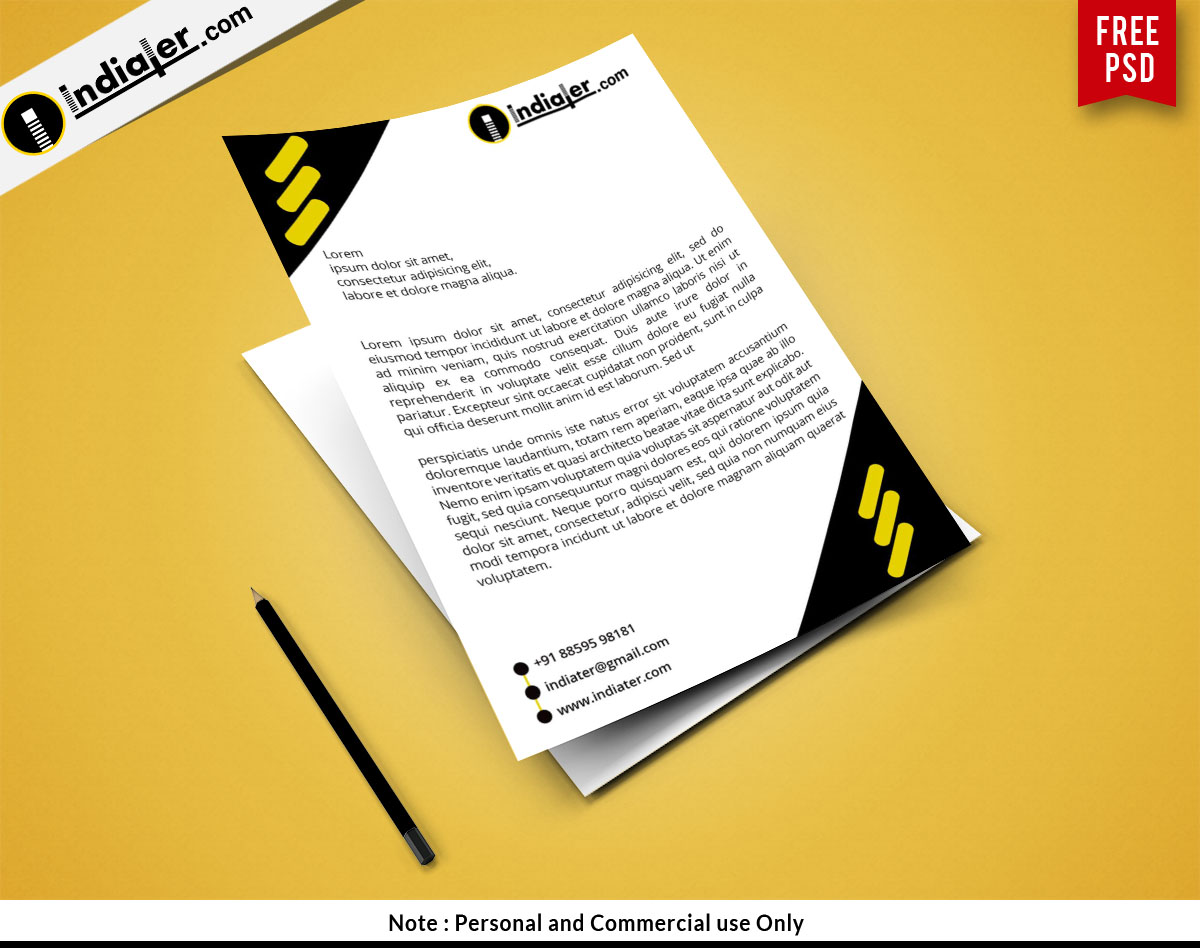 Creative letterhead design PSD free download