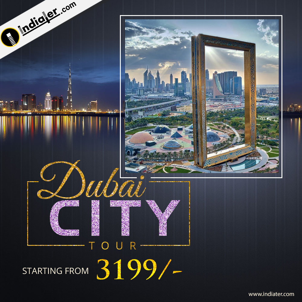 Dubai city tour travel agency banner free PSD