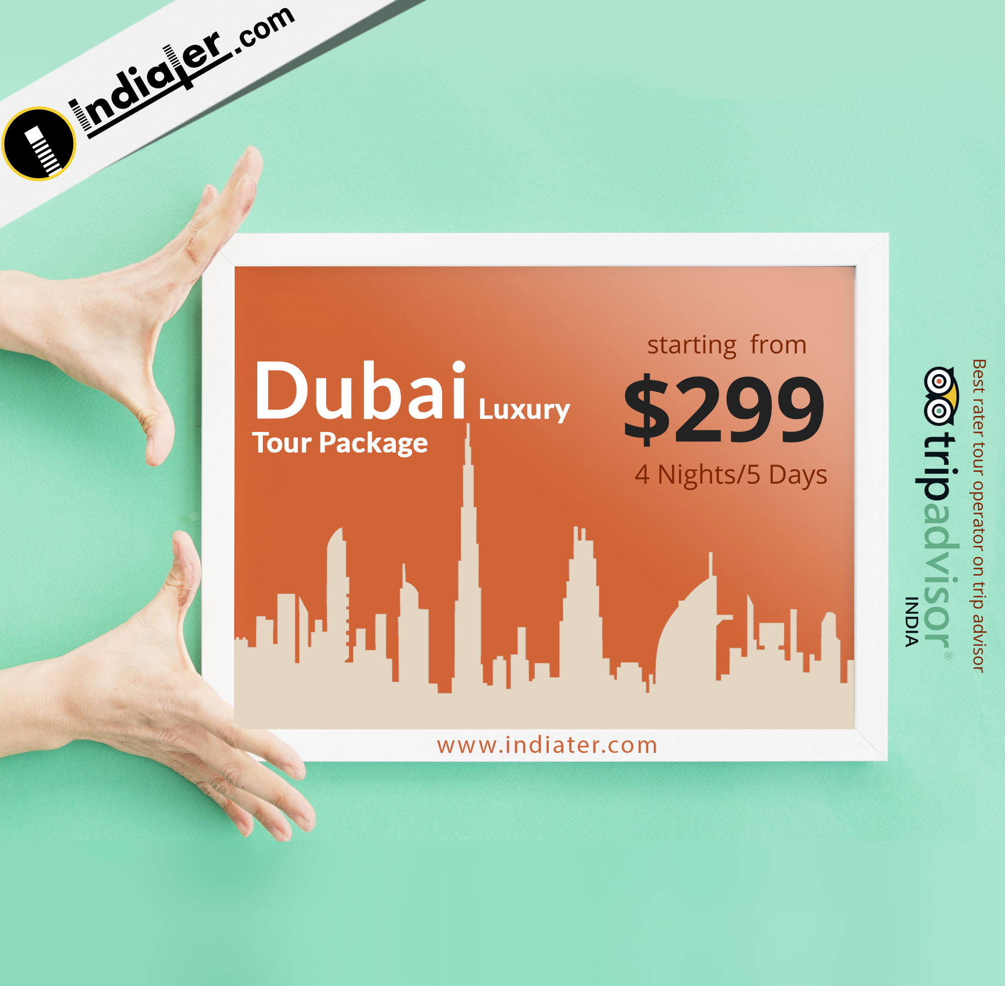 Dubai Luxury Tour Packages travel banner PSD