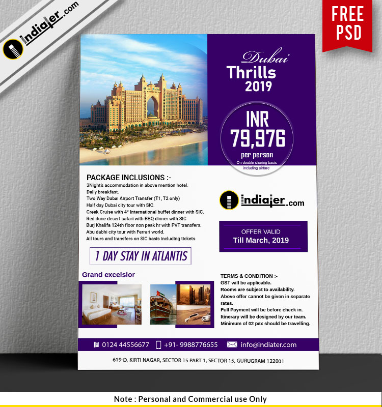 Elegant Hotel Flyer Design for Grand Excelsior + Palm Dubai