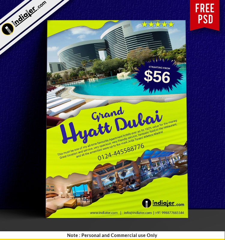Free Grand Hyatt Dubai Hotel Holiday Promotion Flyer