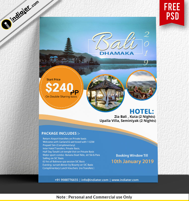 Free Tour & Travel Agency Flyer Template PSD