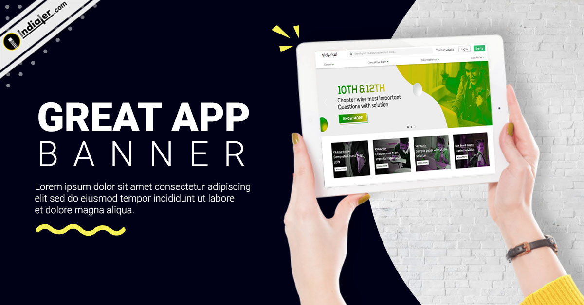 hand-keeps-tablet-website-and-app-promotion-banner