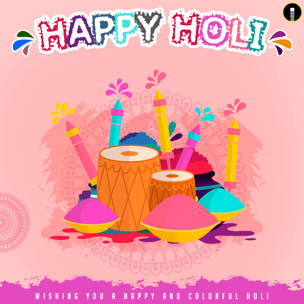Happy Holi Wishes images with colors and Pichakari