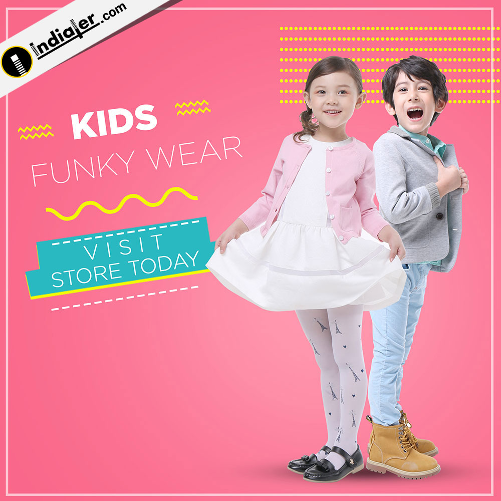 Kids Wear Fashion Social media Banner PSD