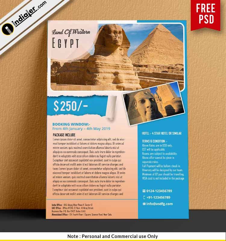 Land of Western Civilization Egypt Travel Flyer