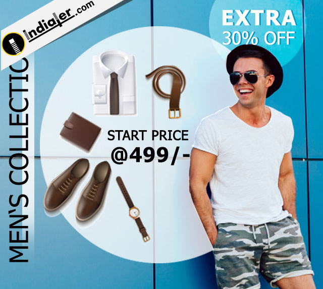 Men's Accessories online shopping offer banner