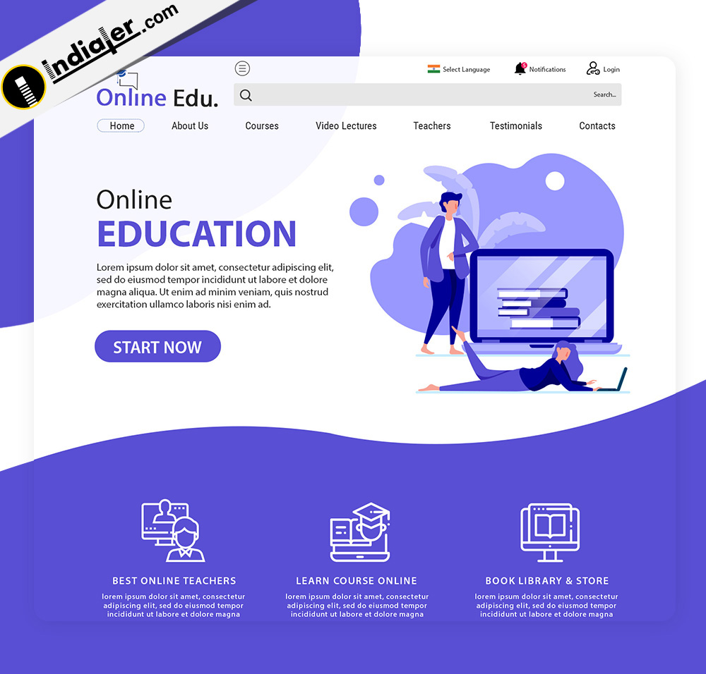 Online Education & Study Modern Website Design Template