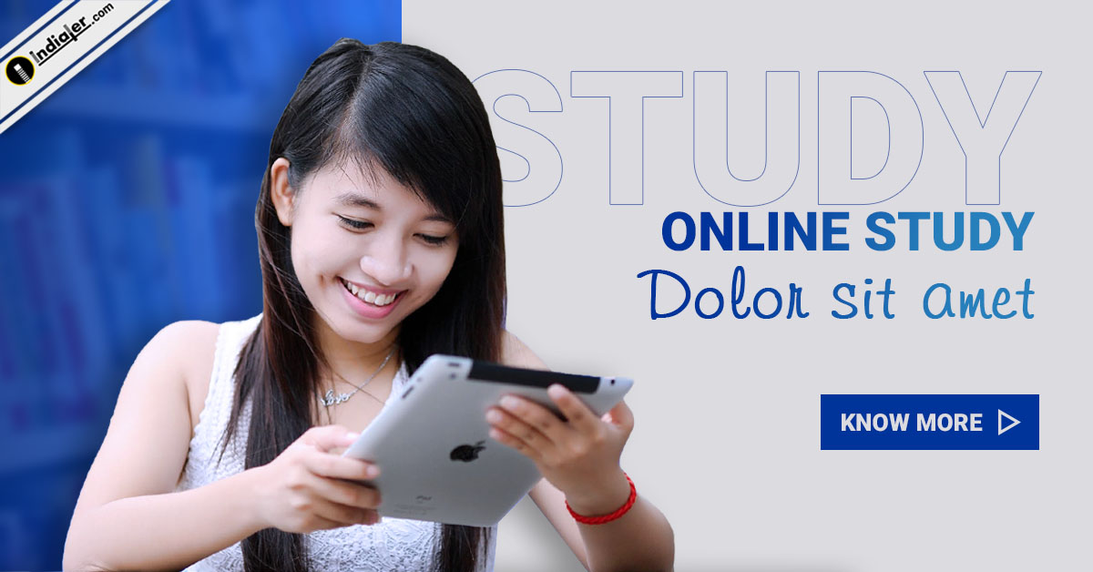 online-study-education-website-banner-with-young-girls