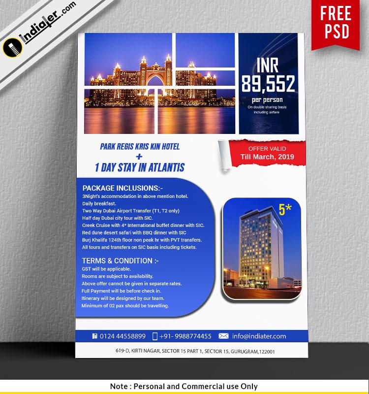 Promotion flyer Park Regis Kris Kin, Dubai Hotel