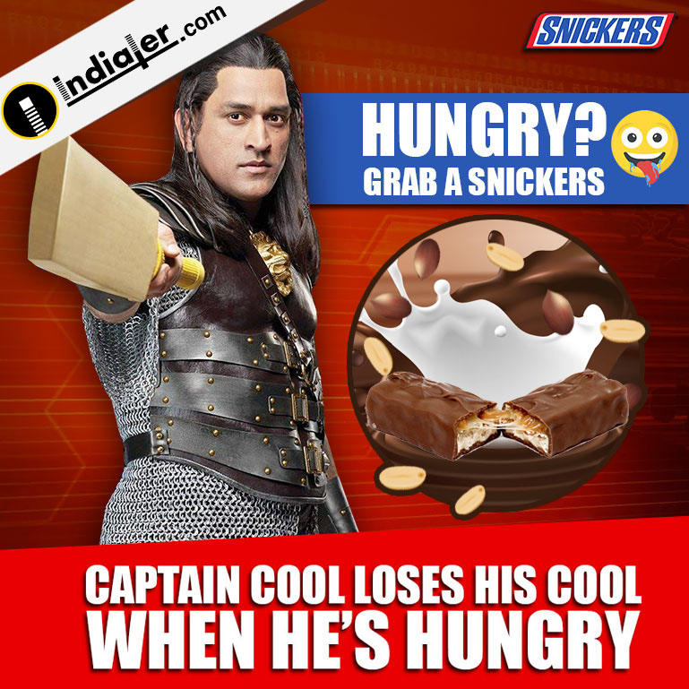 Snickers Promotion ads by celebrity banner design