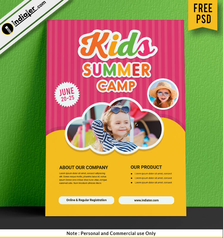free-kids-summer-travel-camps-flyer-template