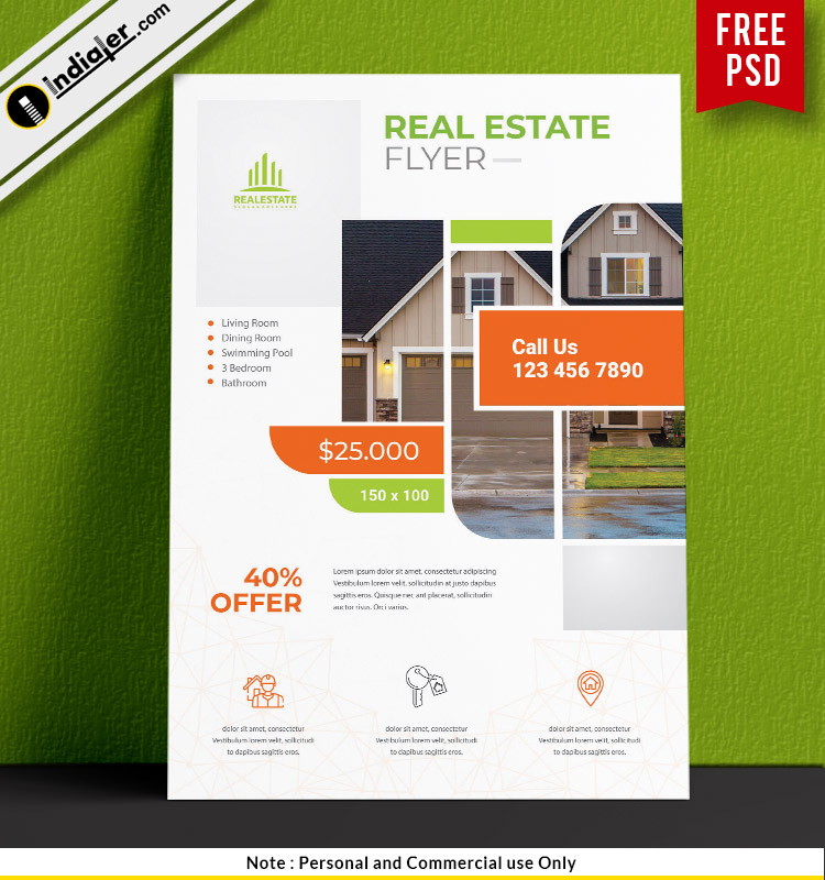 free-real-estate-business-customize-flyer-psd-template