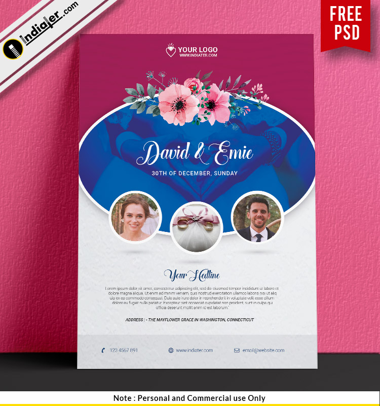 free-wedding-flyer-psd-template