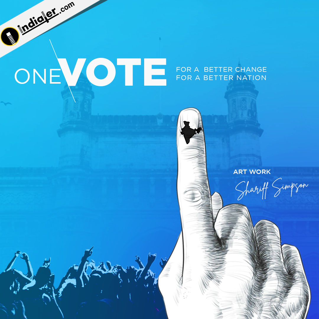 One Vote for Better change and better nation Social Media banner