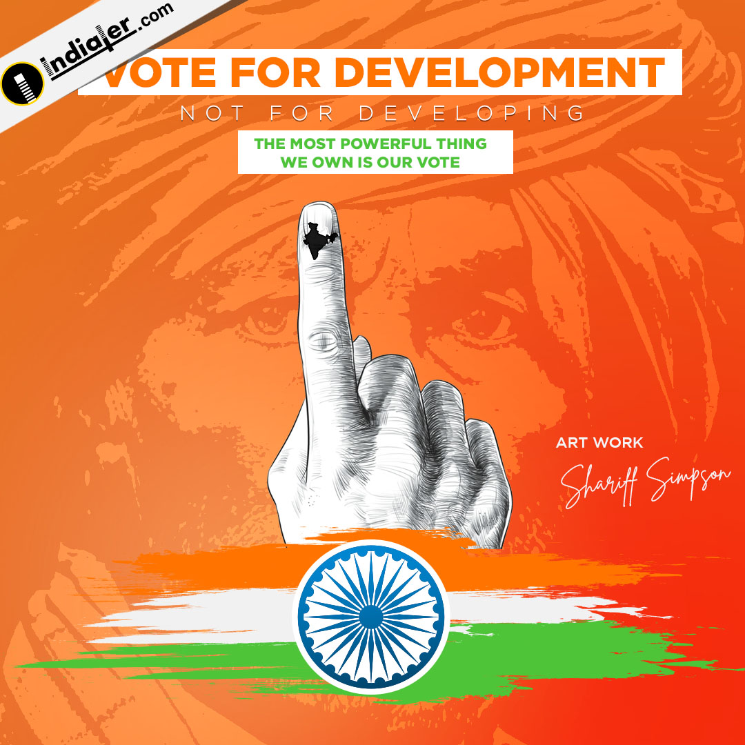 Vote for Development Instagram election banner template