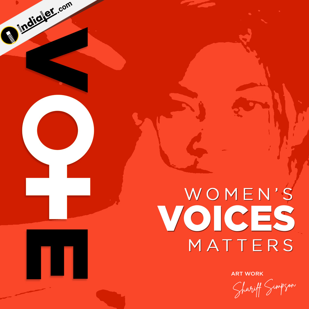 Women's voices matters Elections Social Media banner design