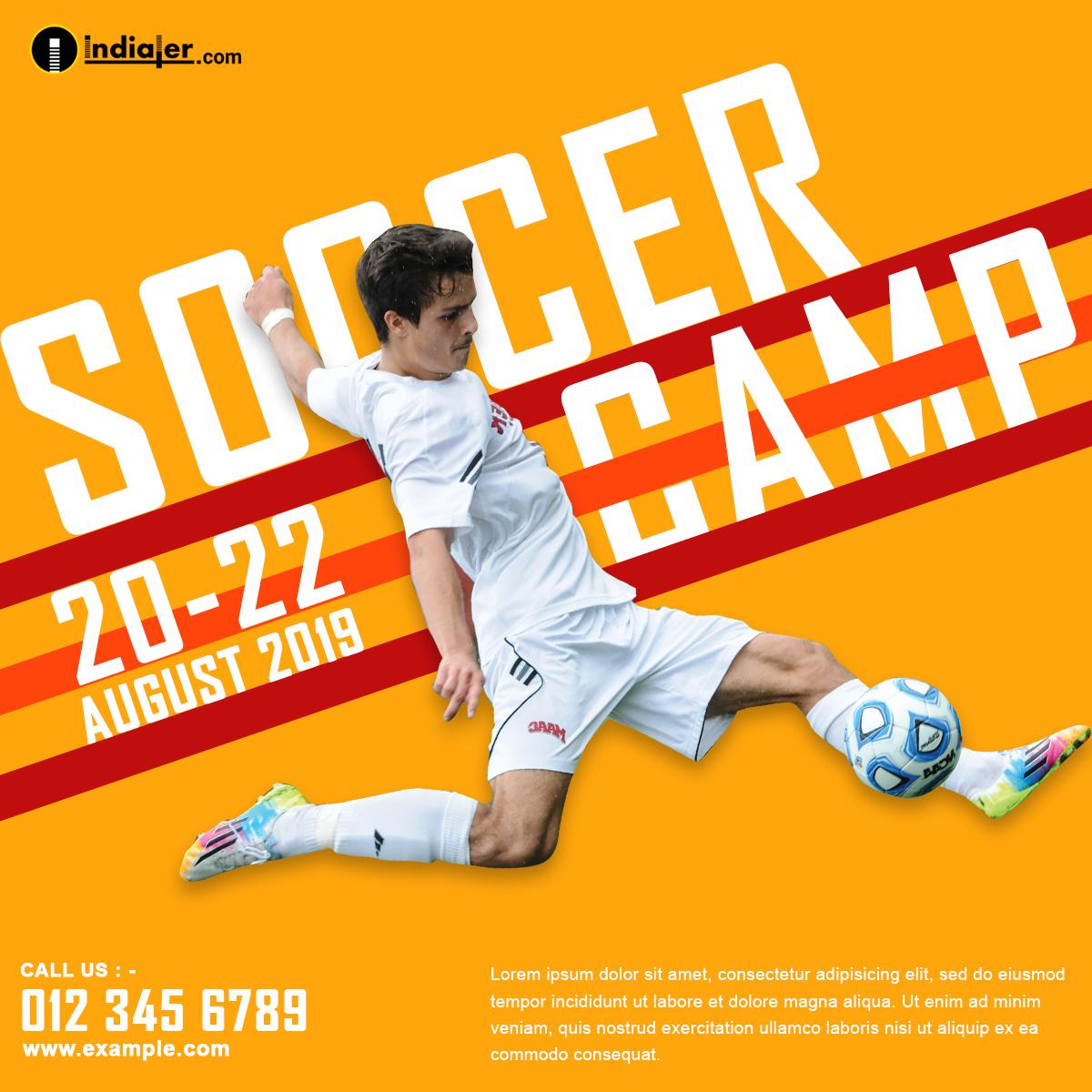 Free Soccer Promo Ads design PSD
