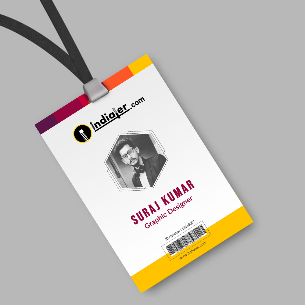 Creative Corporate official ID card template PSD Free