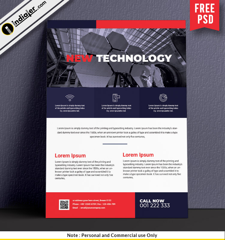 free-corporate-technology-flyer-psd-template