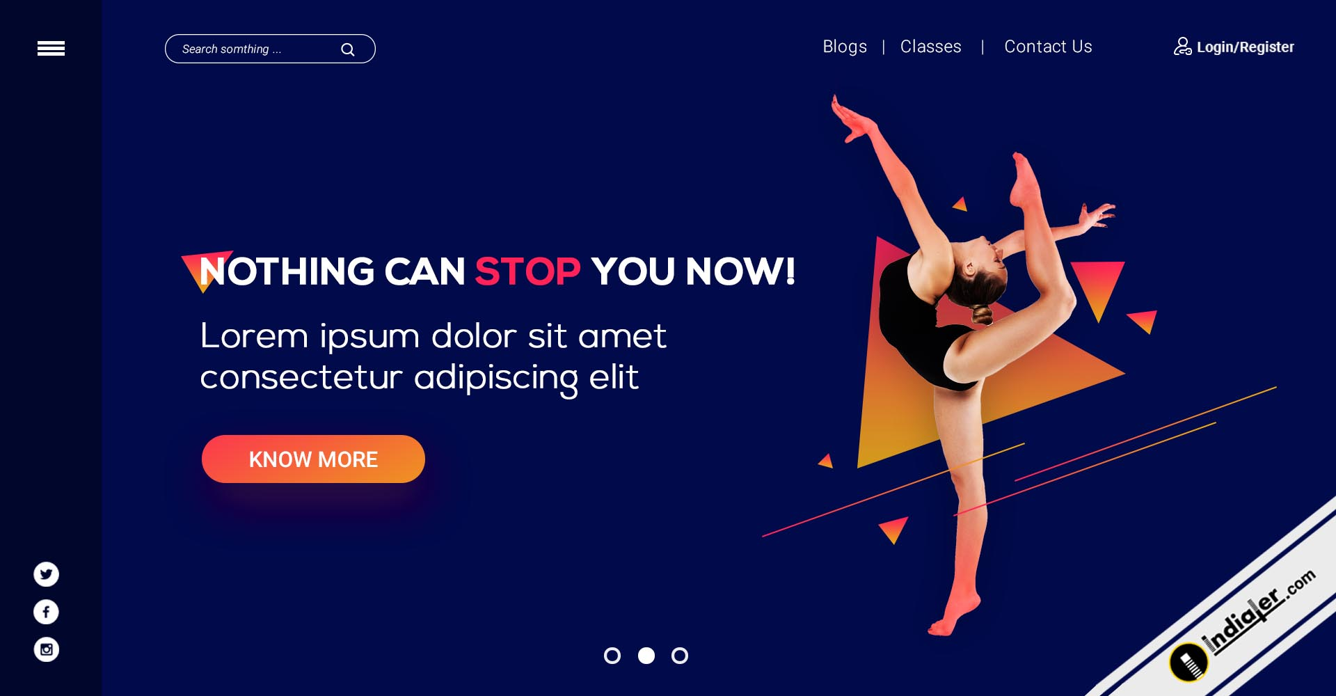 free-dance-studio-website-header-psd-template